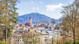 Panoramic view of Baden-Baden. Europe, Germany