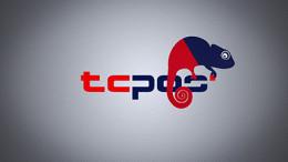 TCPOS Logo mit Chamäleon