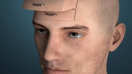 Gesicht eines Menschen mit Schubladen, symbolisiert das Schubladendenken