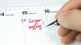 Grippeimpfung / Termin im Terminkalender / Terminplaner