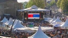NDR - auf dem Hafengeburtstag 2016 - Übersicht auf die NDR-Bühne