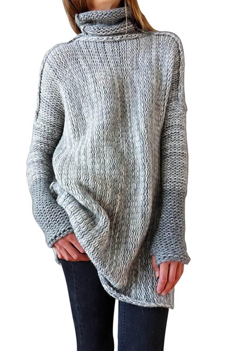 huge selection of 51d93 c3528 IVDIH Damen Rollkragenpullover Winter Lang Oversize Pullover ...