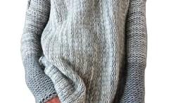 3f44675d4e0311 IVDIH Damen Rollkragenpullover Winter Lang Oversize Pullover Grau  Rollkragen Strickpullover Nähte Farbe-IPU27