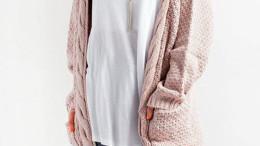17098114005fdc IVDIH Damen Strickmantel Winter Grobstrick Cardigan Lang Lässig Dicke  Strickjacke Langarm Outwear-ICA07