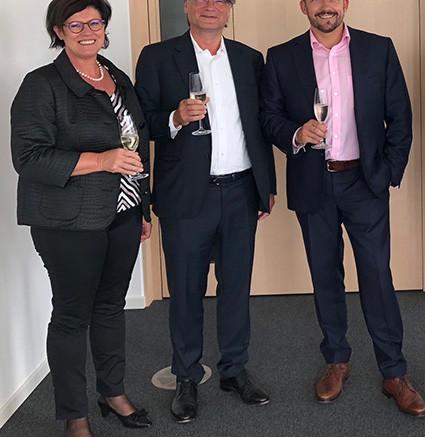 Agatha Baumgartner, Jürg Baumgartner (Verwaltungsrat DataConnect AG), Dirk Schwindling (CEO TCPOS Gruppe).