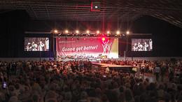Veranstaltungstechnik in der dm-Arena der Messe Karlrsruhe