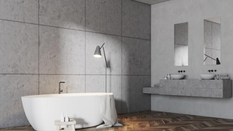 Badezimmer alte Fliesen mit neuen Betonfliesen überkleben - NEWS8.de ...