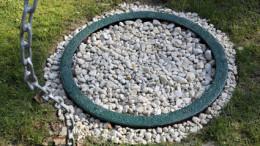 Sickerloch im Garten für Dachentwässerung