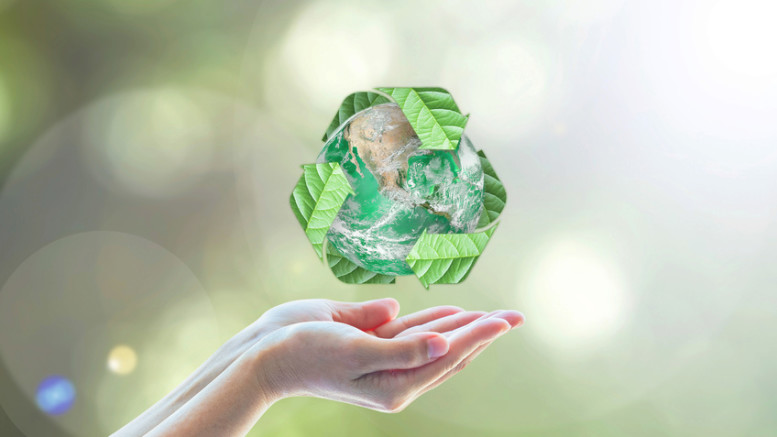 Waste recycle management, eco friendly, energy saving awareness month concept: Elements of this image furnished by NASA