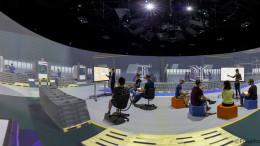 """Virtual Development and Training Centre (VDTC) im Elbedome des Magdeburger Fraunhofer-Instituts für   Fabrikbetrieb und -automatisierung IFF  ------------------------------------------------ [                     © (c) Uwe Voelkner / FOX                                               F o t o a g e n t u r   F O X   agentur@fox-fotos.de          Tel:     02266 - 9019 210 Vanitiy: 0800 - FotoFoto              Mobil:   0171 - 5483 127       Pollerhofstrasse 33 A                     D-51789 Lindlar  B a n k v e r b i n d u n g:      P o s t b a n k  B e r l i n    Uwe Völkner Kto   7004   78 102         BLZ     100 100   10   IBAN DE86 1001 0010 0700 4781 02 BIC   PBNKDEFF  Steuernummer:                         221/5125/0967      Finanzamt Wipperfuerth USt-IdNr.:  DE182602653  Nutzung honorarpflichtig gemäß: """"Bildhonorare - Mittelstandsgemeinschaft Foto-Marketing"""" (mfm)  https://bvpa.org/mfm/  Pano-5_Elbedome_FOX_180921_Pano-50.cr2"""