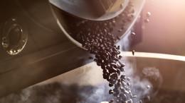 Kaffeebohnen nach der Roestung