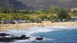USA, Hawaii, O'ahu, Waimanolo beach, Küste, Strand, Wasser, menschen,