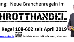 Annonce Schrotthandel Ausbilder Gottschalk