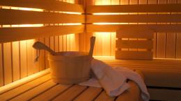 Inneres einer Sauna