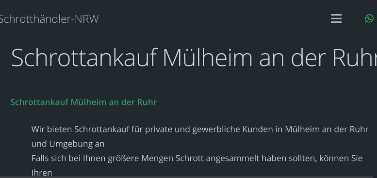Schrottankauf Mülheim an der ruhr