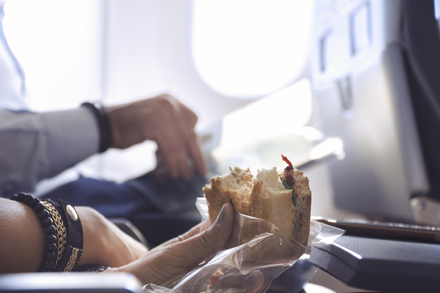 Sandwich im Flugzeug