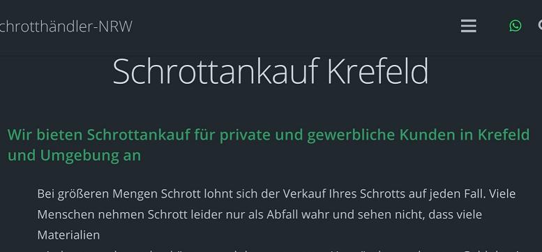 Schrottankauf Kredfeld