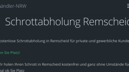 Schrottabholung Remscheid