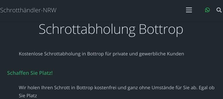 Schrottabholung Bottrop