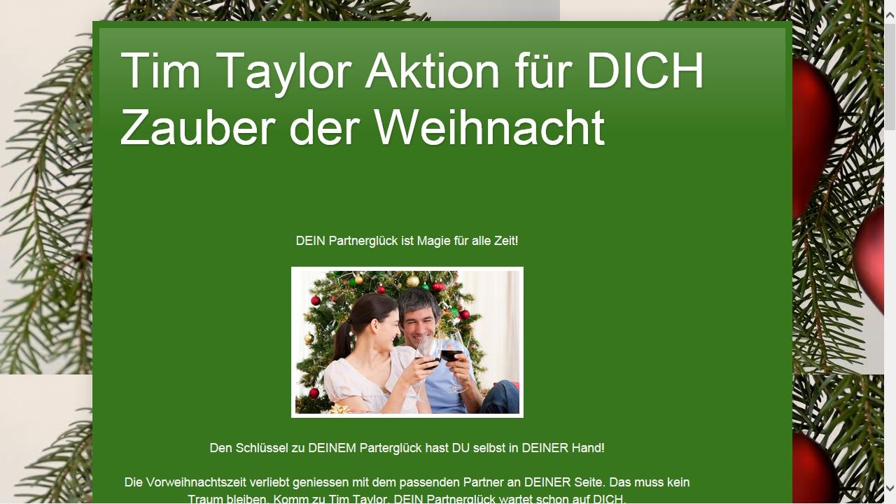 Partnervermittlung tim taylor