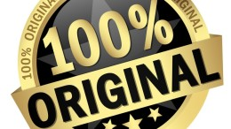 colored button with banner 100 % Original