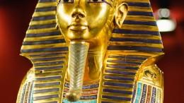Replica of the burial mask of egyptian pharaoh tutankhamun