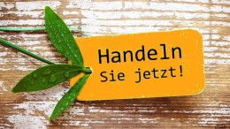 """""""Es wird Zeit fr Neues!"""" - Label/Plakette grn auf Holz"""