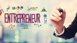 Businessman drawing Entrepreneur concept