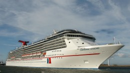 Carnival Cruise Lines' new Carnival Legend departs Harwich, England, on its inaugural cruise Wednesday, Aug. 21, 2002. Photo by Andy Newman/CCL