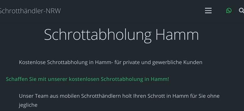 Schrottabholung Hamm