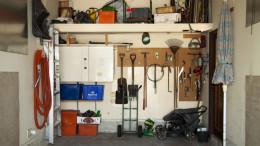 Aufgeraumte Garage