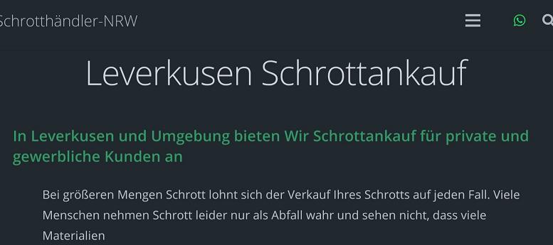 Schrottankauf Leverkusen