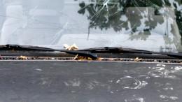 Hagelschaeden auf einem Auto