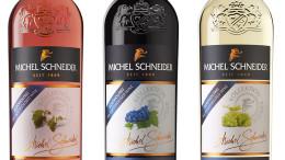 Michel Schneider alkoholfreie Weine der Rebsorten Merlot (Rosé), Cabernet Sauvignon und Chardonnay von Zimmermann-Graeff & Müller (ZGM)