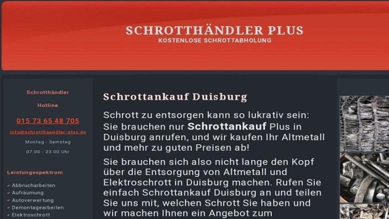 Schrottankauf Duisburg ➜ kauft Ihren Schrott
