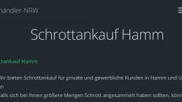 Schrottankauf Hamm